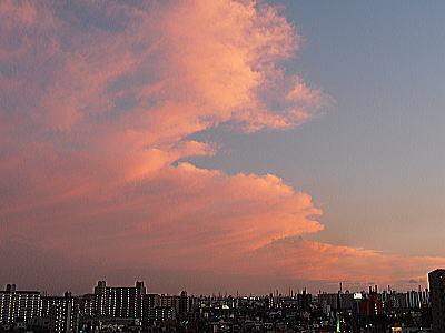 400スーパームーン夕暮れ9日18:33.jpg
