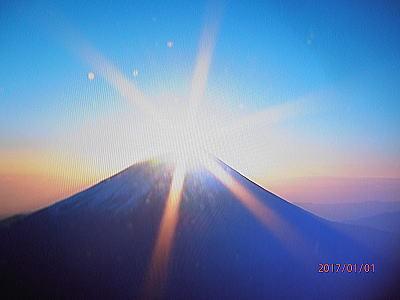 400テレビの中のダイヤモンド富士.jpg