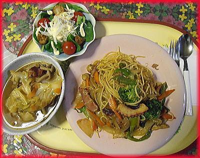 400ペペロンチーノキャベツスープ・リースサラダ.jpg